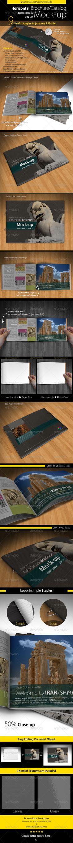 Horizontal Brochure / Catalog Mock up - Print Product Mock-Ups