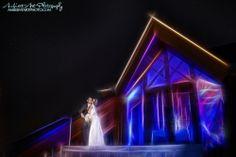 Wedding photos, Lake Tahoe, Edgewood Golf course, kiss, bride, groom, dress, flowers, sunset. nighttime photography, Stars