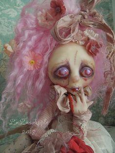 Prairie sad Zombie Victorian Valentine Goth Art Doll by LuLusApple