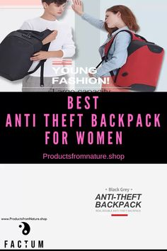 Best Anti Theft Backpack for Women - Use it Daily for School or Colloage. Jetsetter will love it for Travel! Men's Backpack, Canvas Backpack, Backpack Organization, Day Backpacks, Anti Theft Backpack, Waterproof Backpack, Young Fashion, Designer Backpacks, Travel News