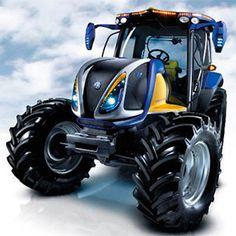 Los tractores de hidrógeno son los vehículos agrícolas propulsados por hidrógeno. Son beneficiosos para el medio ambiente y ayudan a abaratar la factura energética. Durante la combustión, de la misma forma que el gasoil, el hidrógeno se quema en motor de explosión (con un diseño similar). New Holland, Volvo, Monster Trucks, Vehicles, Farming, Sketch, Design, Shape, Motors