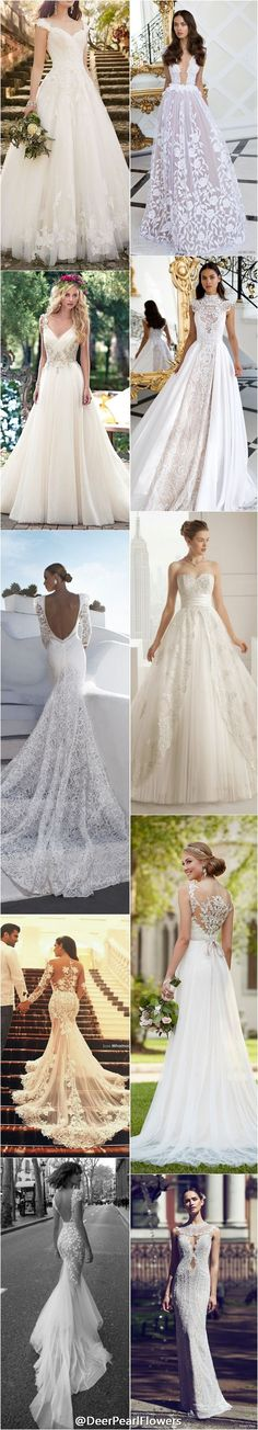 lace wedding dresses and gowns / http://www.deerpearlflowers.com/lace-wedding-dresses-and-gowns/