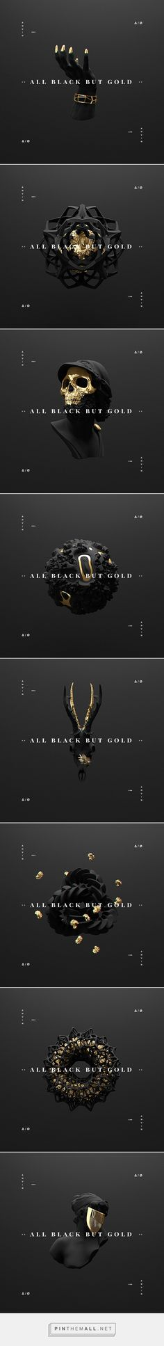 All black but gold on Behance... - a grouped images picture