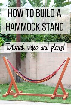 Easy DIY Hammock Stand Using 3 Tools This is so easy and awesome! Easy and simple DIY Hammock stand! How to build a wooden hammock stand. There are plans, video and a full tutorial to make this! Eat Pray Love, Aqua Blue, Free Standing Hammock, Wooden Hammock Stand, Diy Love, Diy Hammock, Outdoor Hammock, Hammock Frame, Hammocks