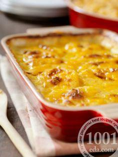 Картофельно-беконовый пирог с сыром