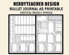 Bullet Journal Vertical Weekly Spread