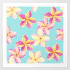 Plumeria Art Print by Margarita Sadkova - $13.52