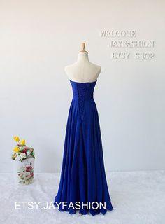Royal Blue Sweetheart Long Prom Dress Fashion by jayfashion