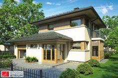 Siena S-GL 616. Dom o prostej bryle i konstrukcji, nawiązujący do architektury włoskich willi, który idealnie wkomponuje się w miejskie działki. W ramach parteru zaprojektowano kuchnię, otwartą na jadalnię i pokój dzienny, dodatkowy pokój oraz łazienkę. Za garażem mieści się duża kotłownia, która umożliwia przyszłym użytkownikom wybór różnych technologii ogrzewania budynku. Na piętrze zaprojektowano strefę nocną, na którą składają się trzy sypialnie i łazienka.