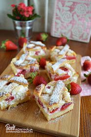 Barbi konyhája: Túróhabos-, epres kelt tészta Waffles, Cereal, French Toast, Barbie, Breakfast, Food, Drinks, Sheppard Pie, Kuchen