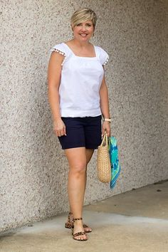 Over 40 fashion blogger Savvy Southern Chic shares about the transforming power of an elevated basic white top for summer outfits. #fashionover40 #summerstyle #outfitideas