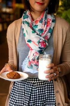 Best Chocolate Chip Cookie in SF + @Old Navy Cardigans | Say Yes to Hoboken #layeredONstyle