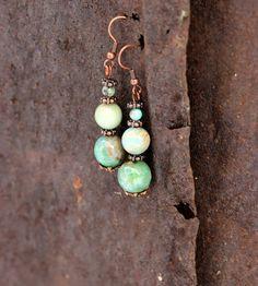 Купить Серьги Весна на пороге, с натуральными камнями - комбинированный, серьги с камнями, серьги авторские