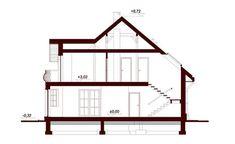Przekrój DN Modena CE Family House Plans, Dream House Plans, Beautiful Home Designs, Beautiful Homes, Beautiful Places, Home Building Design, Building A House, Two Story House Design, Kerala Houses
