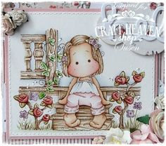 Did you hear about the newest Magnolia collection called Country Girl ? If you are a Magnolia lover you will agre. Magnolia Colors, Diy And Crafts, Paper Crafts, Whimsy Stamps, Easel Cards, Pink Paper, Marker Art, Tampons, Card Sketches