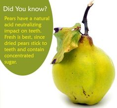 Did you know? Pears and your teeth