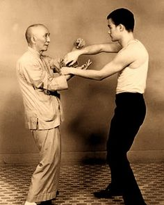 Yip Man and Bruce Lee. I've always loved this picture.