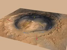 NASA - Mountain Winds at Gale Crater