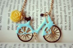 Fetch me with your bicycle necklace by lepetitebonbon on Etsy