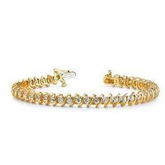 Diamantring / Diamantarmband / Diamantschmuck: Diamantarmband mit 4.00 Karat Diamanten aus 585er ...