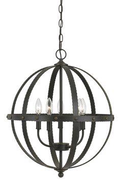 Benavides 5 Light Globe Pendant