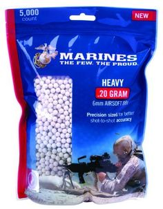 U.S. Marine Corps Airsoft Camo Heavy Ammo (5000 Count) by Crosman. $15.95. These heavy bb's deliver a harder impact, and perform well in high-velocity airsoft weapons.. Save 31%!