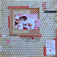 And what you bask long, cold nights? I am a hot chocolate and hugs her beloved husband ♥ On this and stranchika in scrapbooking style :) Photo found on the internet! The paper used the paper from Echo Park, Graphic 45, paper tape of My Mind's Eye, textured paste, spray