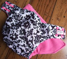 Elegant #Damask PUL One Size Pocket #ClothDiaper by #HoneybunsClothDiapers