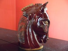 Midcentury Relco Ceramic Pottery Horse Head Bank Desk Organizer For Your Mad Men Office by MadGirlRetro on Etsy https://www.etsy.com/listing/246484896/midcentury-relco-ceramic-pottery-horse