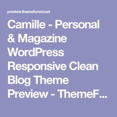Camille - Personal &