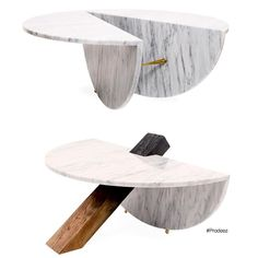 From Prodeez Product Design: Porin and Maburu Tables by mob Design Studio. For more info and images visit www.prodeez.com #furniture #table #marble #creative #design #ideas #designer #mobstudio #product #productdesign #interior #interiordesign #instadesign #furnituredesign #prodeez #industrialdesign #architecture #style #art
