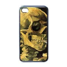 Skull With Burning Cigarette By Vincent Van Gogh Black iPhone 5 Case on I'dBuyIt.At