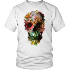 New Floral Skull Women's Tee
