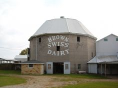 Brown Swiss Dairy barn Shipshewana, IN Country Barns, Old Barns, Country Life, Country Living, Old Houses, Barn Houses, Mill Farm, Silo House, Back Road