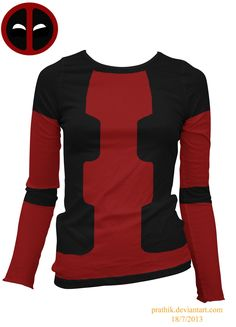 Lady Deadpool Shirt by prathik