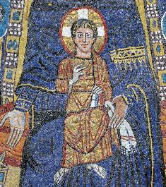 c 820 CE Apse mosaic detail Rome Constantine The Great, Ottoman Turks, Byzantine Art, Roman Empire, Capital City, Middle Ages, Fresco, Istanbul, Rome