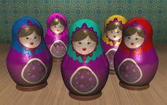 matrioska dolls by AnaglyphSkull.deviantart.com on @deviantART