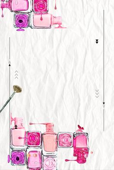 Cortina de ducha Cortina Muebles Ciego Antecedentes Nail Salon Design, Nail Salon Decor, Watercolor Card, Nail Logo, Makeup Wallpapers, Nail Designer, Nail Polish, Manicure E Pedicure, Flower Backgrounds