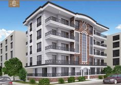 Hotel Design Architecture, Plans Architecture, Modern Architecture House, Residential Architecture, Condo Design, Bungalow House Design, Modern House Design, Building Front, Cool House Designs
