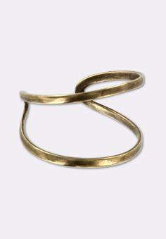 Bague réglable double fil bronze x1 - Bagues - Apprêts, fermoirs, clous... - Accessoires | MatièrePremière