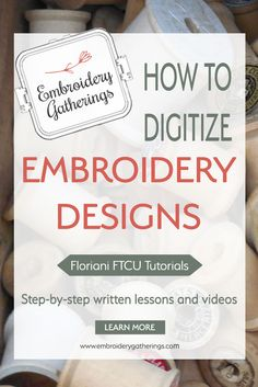 Learn to digitize embroidery designs with Floriani FTCU. Step by step written tu… Learn to digitize embroidery designs with Floriani FTCU. Step by step written tutorials, photos and free PDF Brother Embroidery Machine, Machine Embroidery Projects, Embroidery Software, Learn Embroidery, Vintage Embroidery, Embroidery Techniques, Embroidery Stitches, Embroidery Digitizing, Embroidery Ideas