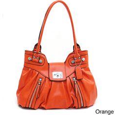 Dasein Women's Zipper Accented Shoulder Bag | Overstock.com