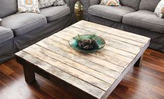 Rustic Reclaimed Wood Large Square Coffee Table by YonderYearsShop, $275.00