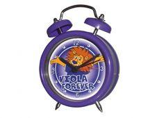 TIF8 SVEGLIA 7CM LEONE. TIF8 orologio sveglia con suono meccanico e disegni del leonotto e scritta Viola forever.     Funziona con batterie non incluse