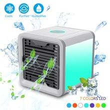 Us Plug Mini Cleaning Appliance Parts Small Home Electric Fan Dormitory Air Conditioner Charge Small Fans Office Desktop Student Bed Nothing Leaf Fan Can Be Repeatedly Remolded.
