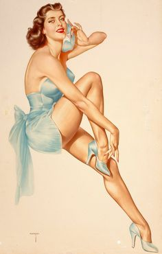 Pin Up girls by Alberto Vargas. What really inspires Varga is pin-up art.  Visit VargaStore.com
