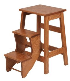 Amish Made Wooden Folding Step Stool 5155