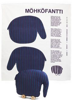 Moohokofantti Toy, 1979 by Marimekko, MoMA | Century of the Child #Toy #Elephant #Marimekko #MoMA