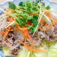 *野菜がたっぷり食べれます。 - 10件のもぐもぐ - 冷しゃぶ野菜サラダ by ponpoko0718