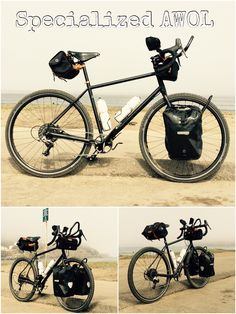 2016 Specialized AWOL Comp, SRAM Rival 1 x 11 Hydraulic disc brakes, Tubus front rack with Ortlieb Panniers, Brooks saddle, Acorn handlebar bag and saddle bag